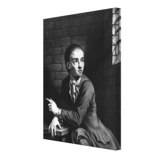Jack Sheppard, engraved by George White, 1728 Canvas Print