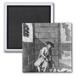 Jack Shepperd en la prisión de Newgate, 1724 Imán Cuadrado