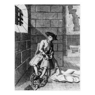 Jack Shepperd en la prisión de Newgate, 1724 Postal
