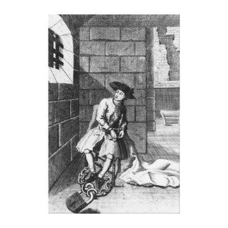 Jack Shepperd in Newgate Prison, 1724 Canvas Print