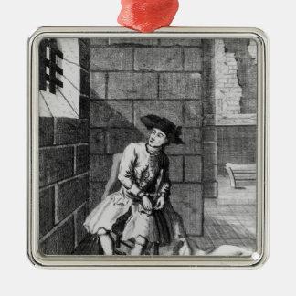 Jack Shepperd in Newgate Prison, 1724 Metal Ornament