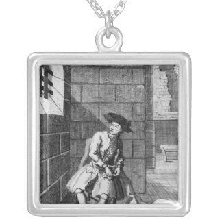 Jack Shepperd in Newgate Prison, 1724 Silver Plated Necklace