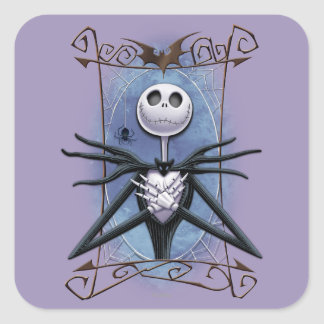 Jack Skellington 2 Square Sticker