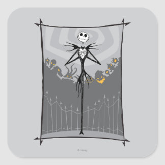 Jack Skellington 3 Square Sticker