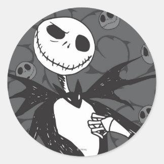 Jack Skellington 8 Round Sticker