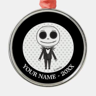 Jack Skellington Emoji Metal Ornament