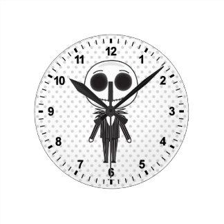 Jack Skellington Emoji Round Clock