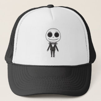 Jack Skellington Emoji Trucker Hat