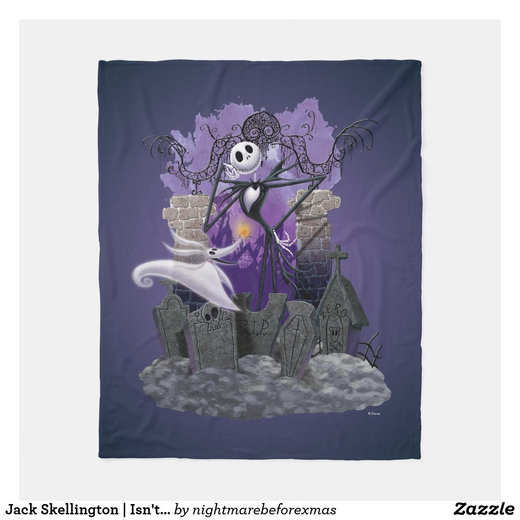 Jack Skellington | Isn't It Wonderful? Fleece Blanket