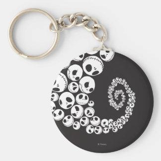 Jack Skellington Pattern 1 Basic Round Button Keychain