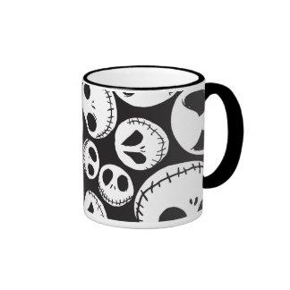 Jack Skellington Pattern 1 Ringer Mug