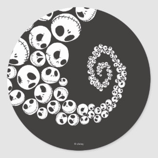 Jack Skellington Pattern 1 Round Sticker