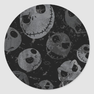 Jack Skellington Pattern 2 Classic Round Sticker