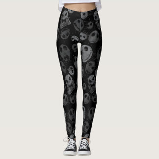Jack Skellington Pattern 2 Leggings