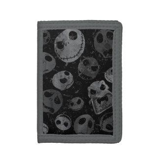 Jack Skellington Pattern 2 Tri-fold Wallet