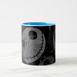 Jack Skellington Pattern 2 Two-Tone Coffee Mug