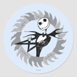 Jack Skellington Saw Blade Classic Round Sticker