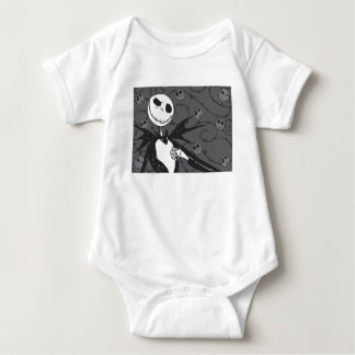 Jack Skellington | Skellington Background Baby Bodysuit