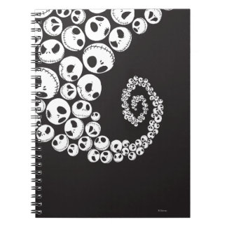 Jack Skellington   Skull Swirl Notebook