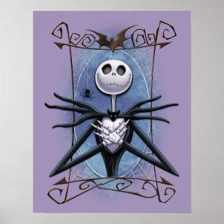 Jack Skellington | Spider Web Frame Poster