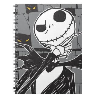 Jack Skellington   Spooky Eye Background Notebook