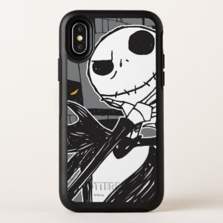 Jack Skellington | Spooky Eye Background OtterBox Symmetry iPhone X Case