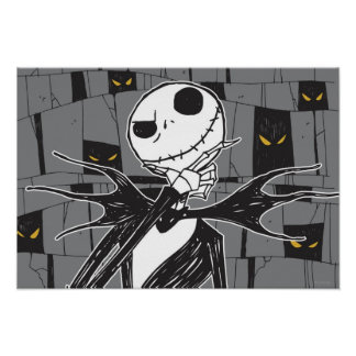 Jack Skellington | Spooky Eye Background Poster