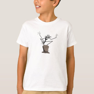 Jack Skellington   Standing on Headstone T-Shirt