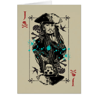 Jack Sparrow - A Wanted Man Card