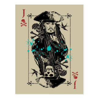Jack Sparrow - A Wanted Man Postcard