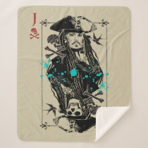 Jack Sparrow - A Wanted Man Sherpa Blanket