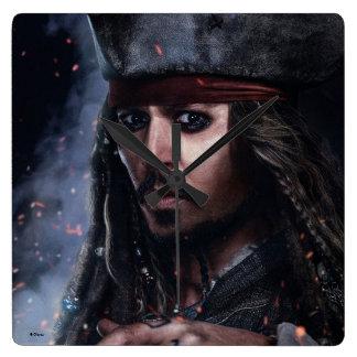 Jack Sparrow - Legendary Pirate Square Wall Clock