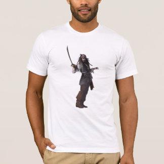 Jack Sparrow que se coloca con la espada Playera