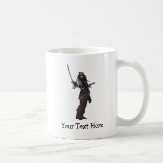 Jack Sparrow que se coloca con la espada Taza De Café