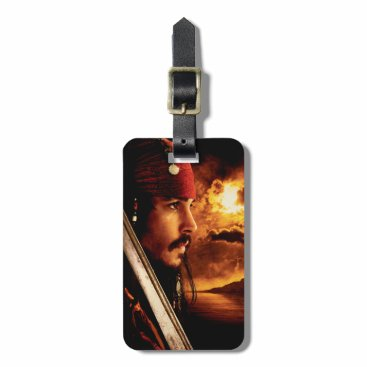 Disney Themed Jack Sparrow Side Face Shot Bag Tag