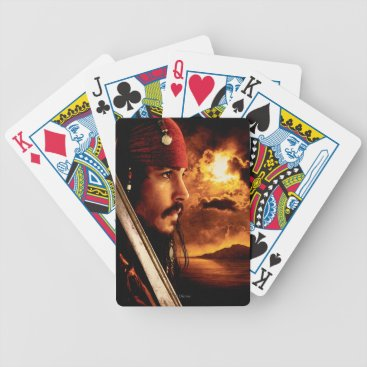 Disney Themed Jack Sparrow Side Face Shot Bicycle Playing Cards