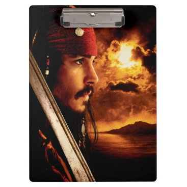 Disney Themed Jack Sparrow Side Face Shot Clipboard