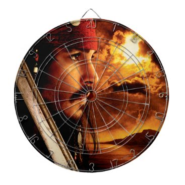 Disney Themed Jack Sparrow Side Face Shot Dart Board