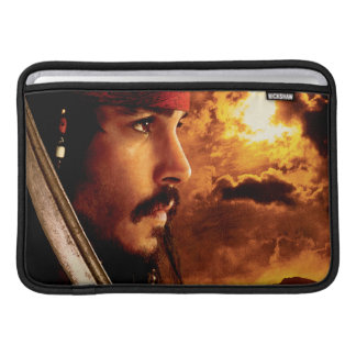Jack Sparrow Side Face Shot Sleeves For MacBook Air