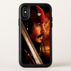 Jack Sparrow Side Face Shot OtterBox Symmetry iPhone X Case