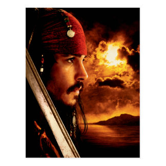 Jack Sparrow Side Face Shot Postcard