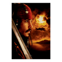 Jack Sparrow Side Face Shot Poster