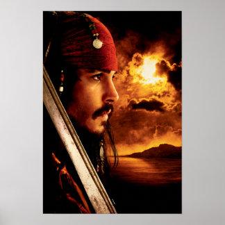 Jack Sparrow Side Face Shot Poster