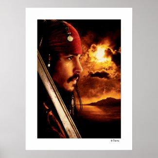 Jack Sparrow Side Face Shot zazzle_print