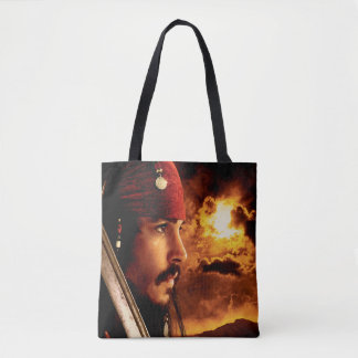 Jack Sparrow Side Face Shot Tote Bag