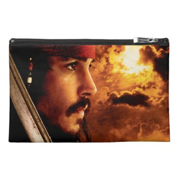 Disney Themed Jack Sparrow Side Face Shot Travel Accessory Bag