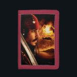 "Jack Sparrow Side Face Shot Tri-fold Wallet<br><div class=""desc"">Pirates of the Caribbean</div>"