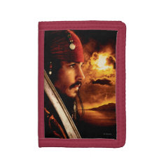 Jack Sparrow Side Face Shot Trifold Wallets at Zazzle