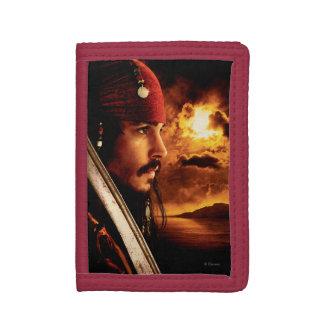 Jack Sparrow Side Face Shot Trifold Wallets