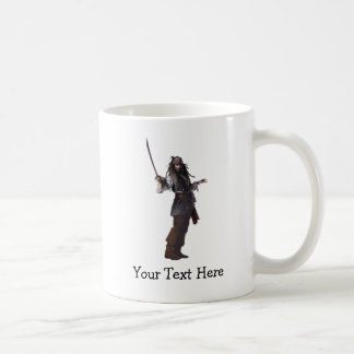 Jack Sparrow Standing with Sword Classic White Coffee Mug